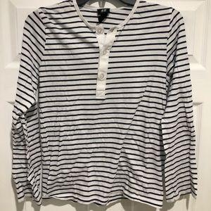 Men's H&M navy striped shirt XS